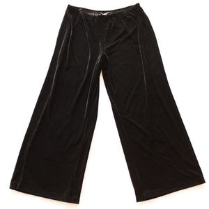 Zac & Rachel Velour Palazzo Stretch Wide Leg Pants